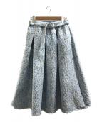()の古着「ジャガードスカート」 スカイブルー