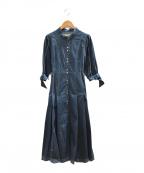 HER LIP TO(ハーリップトゥ)の古着「デニムワンピース」|インディゴ