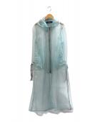 ()の古着「オーガンジーフーデッドコート」 ブルー