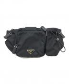 PRADA(プラダ)の古着「ナイロンウエストバッグ」|ブラック