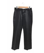 ()の古着「ストレートフィットトラウザーパンツ」 ブラック