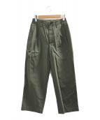 ()の古着「2タックストレートフィットパンツ」 グリーン