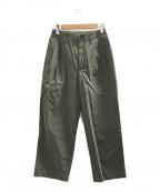 MARKA(マーカ)の古着「2タックストレートフィットパンツ」|グリーン