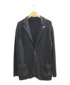 ()の古着「ニットテーラードジャケット」 グレー