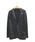 LARDINI(ラルディーニ)の古着「ニットテーラードジャケット」|グレー