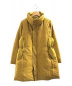 ()の古着「織り替えデザインダウンジャケット」 イエロー