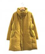 ISSEY MIYAKE()の古着「織り替えデザインダウンジャケット」|イエロー