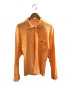 PLEATS PLEASE(プリーツプリーズ)の古着「プリーツシャツ」|イエロー
