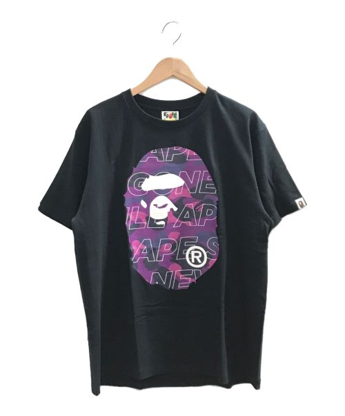 A BATHING APE(エイプ)A BATHING APE (エイプ) プリントTシャツ ブラック×パープル サイズ:Lの古着・服飾アイテム