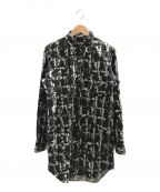 BLACK COMME des GARCONS()の古着「総柄L/Sシャツ」|ブラック
