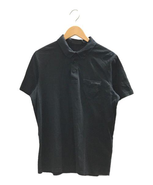 PRADA(プラダ)PRADA (プラダ) ポロシャツ ブラック サイズ:Mの古着・服飾アイテム