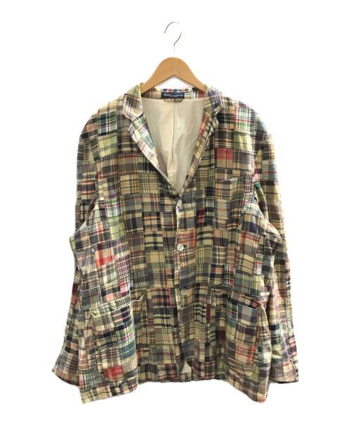 POLO RALPH LAUREN(ポロ・ラルフローレン)POLO RALPH LAUREN (ポロ・ラルフローレン) パッチワークテーラードジャケット ベージュ サイズ:46Rの古着・服飾アイテム