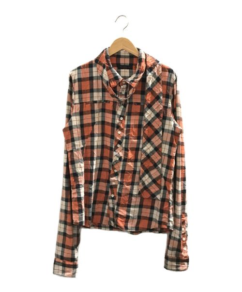 UNDERCOVERISM(アンダーカバーイズム)UNDERCOVERISM (アンダーカバーイズム) チェックシャツ オレンジ サイズ:3の古着・服飾アイテム