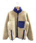 Patagonia()の古着「[古着]レトロパイルカーディガン」|ナチュラル(裏地フレンチレッド)