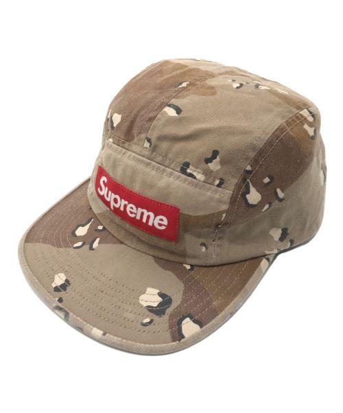 SUPREME(シュプリーム)SUPREME (シュプリーム) カモ柄ボックスロゴキャンプキャップ ブラウン サイズ:下記参照の古着・服飾アイテム