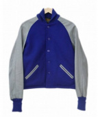 SKOOKUM(スクーカム)の古着「袖レザースタジャン/アワードジャケット」|ブルー