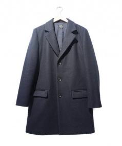 A.P.C(アーペーセー)の古着「メルトンチェスターコート」|ネイビー