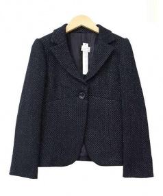 ANAYI(アナイ)の古着「織り柄テーラードジャケット」|ブラック