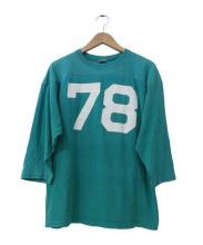 Champion(チャンピオン)の古着「70'sフットボールTシャツ」 ブルー