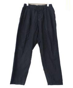 Yohji Yamamoto pour homme(ヨウジヤマモトプールオム)の古着「2タックワイドテーパードパンツ」|ブラック