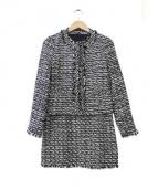 ANAYI(アナイ)の古着「ツイード織りセットアップスーツ」|グレー