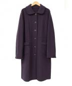 CARA O CRUZ(キャラオクルス)の古着「ウールコート」|パープル