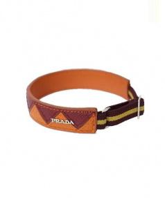 PRADA(プラダ)の古着「サファイアーノレザーブレスレット」|ブラウン