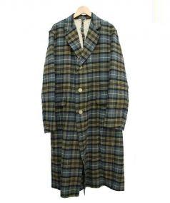 Paul Smith(ポールスミス)の古着「ウールガウンコート」 グリーン