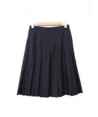 MARGARET HOWELL(マーガレットハウエル)の古着「プリーツスカート」|ブラック