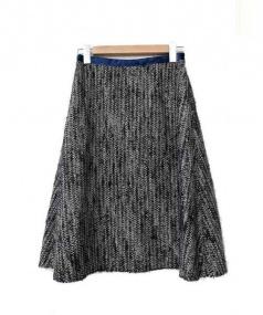 mina perhonen(ミナペルホネン)の古着「ツイードフレアスカート」|ブラック