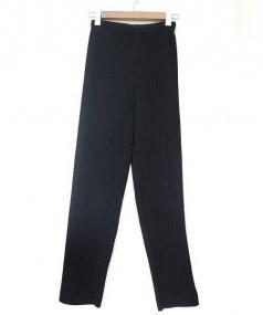 PLEATS PLEASE(プリーツ プリーズ)の古着「プリーツパンツ」|ブラック