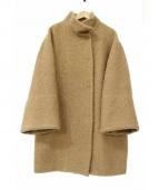 EPOCA(エポカ)の古着「織り地スタンドカラーダブルコート」|ブラウン