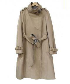 LA JOCONDE(ラ・ジョコンダ)の古着「アシンメトリージップトレンチコート」|ベージュ
