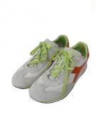 DIADORA HERITAGE(ディアドラ ヘリテージ)の古着「スニーカー/EQUIPE STONE WASH」|ホワイト×オレンジ