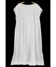 GASA*(ガサ)の古着「チェーン刺繍ヨークワンピース」|ホワイト
