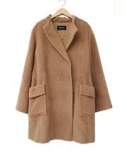 MAYSON GREY(メイソン グレイ)の古着「アルパカシャギーノーカラーコート」|キャメル
