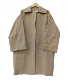 BLACK by moussy(ブラックバイマウジー)の古着「ステンカラーコート」|ベージュ