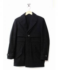 BALENCIAGA(バレンシアガ)の古着「ウールハーフコート」|ブラック