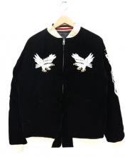 BILLVAN(ビルバン)の古着「スーベニアスカジャン」|ブラック