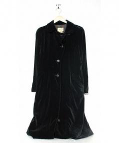 HERMES(エルメル)の古着「ベロアコート」|ブラック