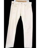 Denim & Supply Ralph Lauren(デニムアンドサプライ ラルフローレン)の古着「ペイント加工ホワイトジーンズ」|ホワイト