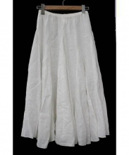 CP Shades(シーピーシェイズ)の古着「リネンロングスカート」 ホワイト