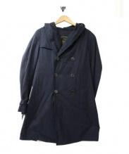 BLUE WORK(ブルーワーク)の古着「ライナー付フーディトレンチコート」|ネイビー