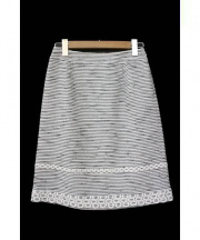 COTOO(コトゥー)の古着「ツイードスカート」 ホワイト