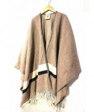 ERIKA CAVALLINI(エリカ カヴァリーニ)の古着「フリンジウールケープ」|ライトグレー
