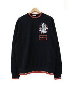 Dior Homme(ディオールオム)の古着「刺繍ワッペンスウェット」 ブラック