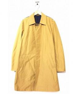 Mr.GENTLEMAN(ミスタージェントルマン)の古着「アスレティックステンカラーコート」 ベージュ