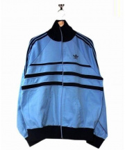 adidas(アディダス)の古着「トラックジャケット」 スカイブルー