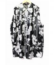 LEONARD(レオナール)の古着「フラワープリントシャツコート」|ブラック
