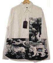 PRADA(プラダ)の古着「グラフィックプリントシャツ」|ホワイト